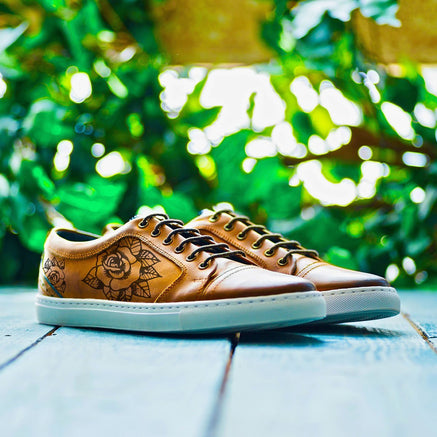 Goodwin Smith Footwear UK 6 / EURO 39 / US 7 / Tan / Leather RIMMINGTON FLOWER (GS INKED)