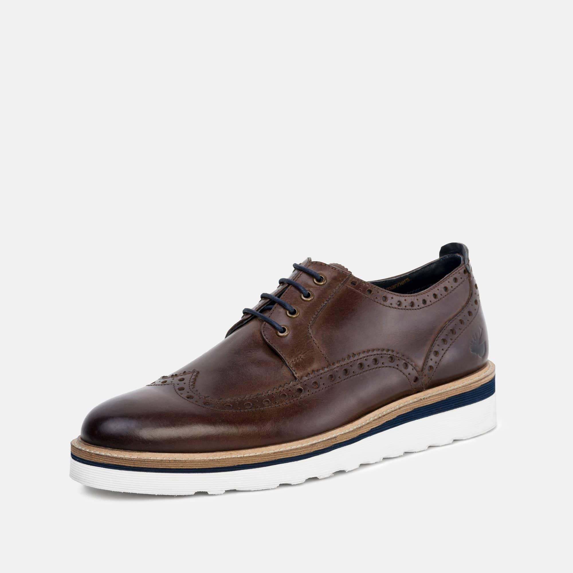 Goodwin Smith Footwear Ripley Brown Casual Leather Brogue Shoe