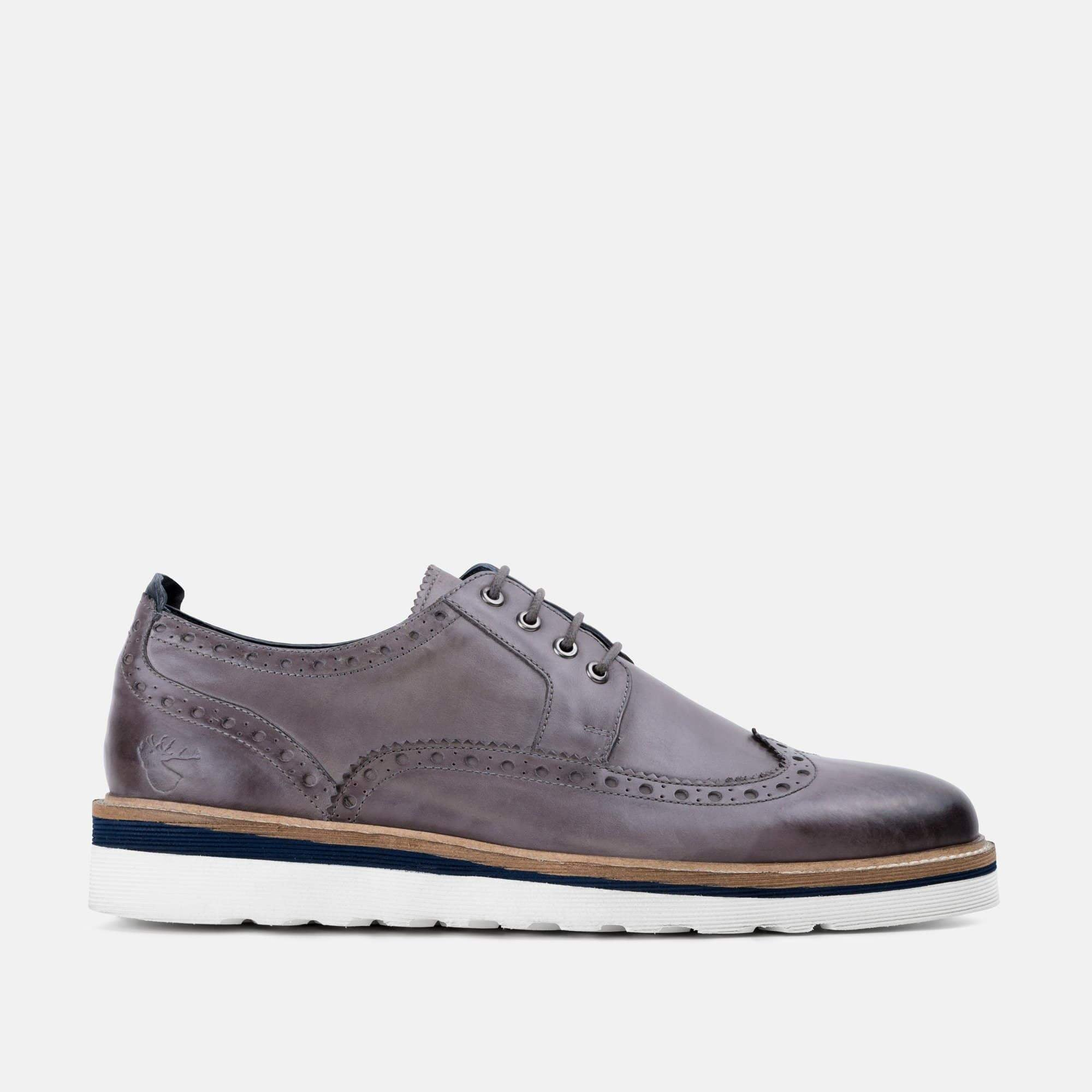 Goodwin Smith Footwear Ripley Grey Casual Leather Brogue Shoe