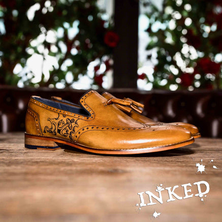 Goodwin Smith Inked Footwear UK 9 / EURO 43 / US 10 / Tan / Leather Mitton Anchor (GS INKED) | Size UK 9 | 9/50