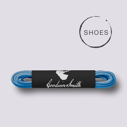 Goodwin Smith Laces Blue (Shoe) / 75cm / Waxed Lace Blue Shoe Laces