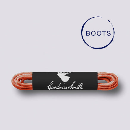 Goodwin Smith Laces Orange (Boots) / 140cm / Waxed Lace Orange Boot Laces
