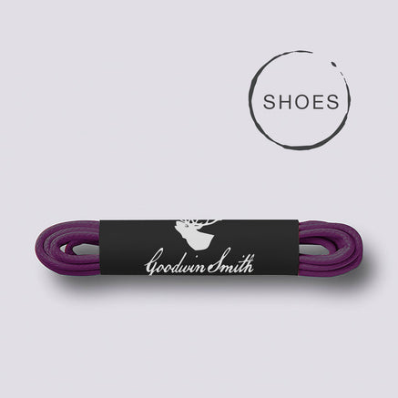Goodwin Smith Laces Dark Purple (Shoe) / 75cm / Waxed Lace Purple Shoe Lace
