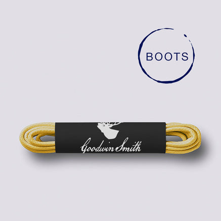 Goodwin Smith Laces Yellow (Boots) / 140cm / Waxed Lace Yellow Boot Laces