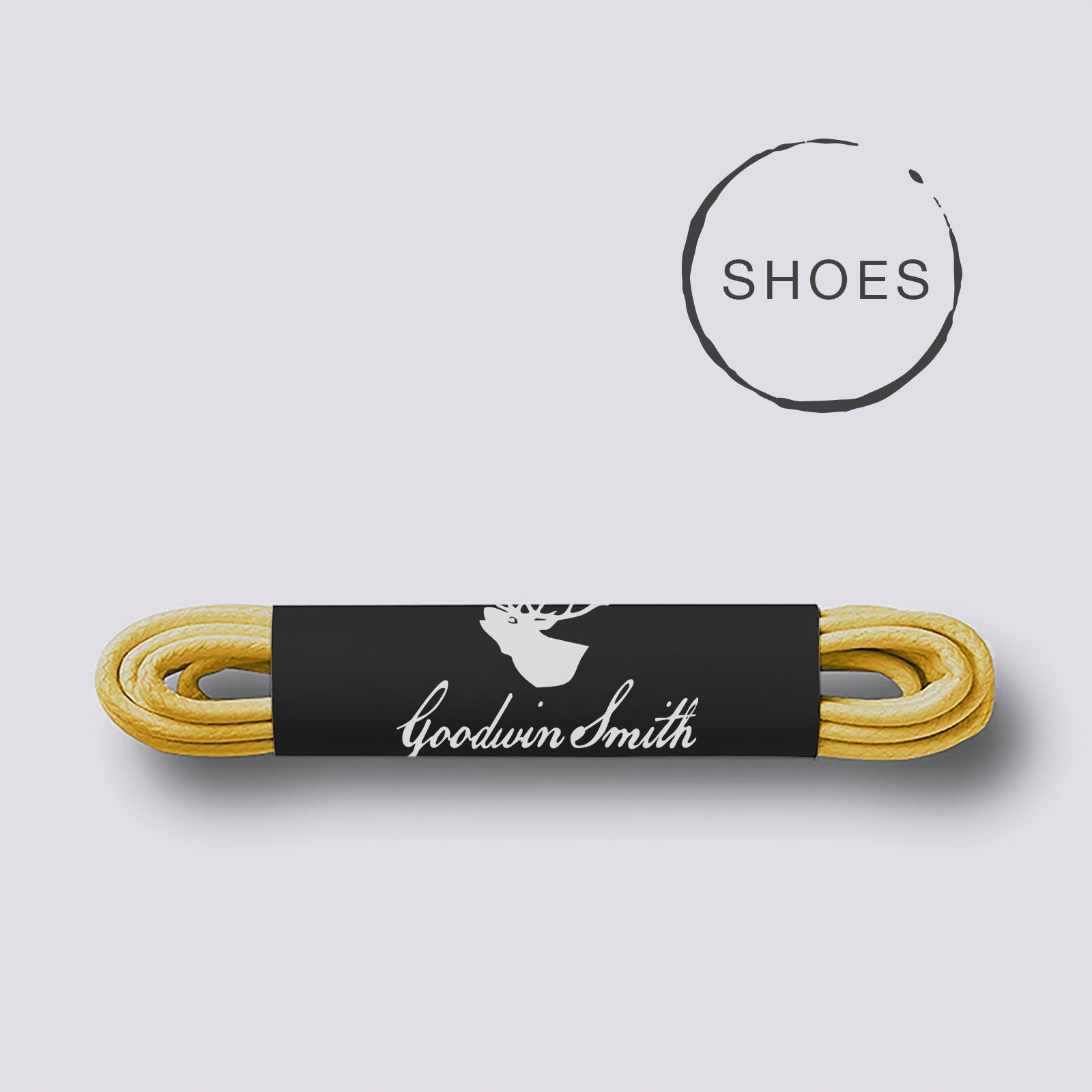 Goodwin Smith Laces Yellow (Shoe) / 75cm / Waxed Lace Yellow Shoe Laces