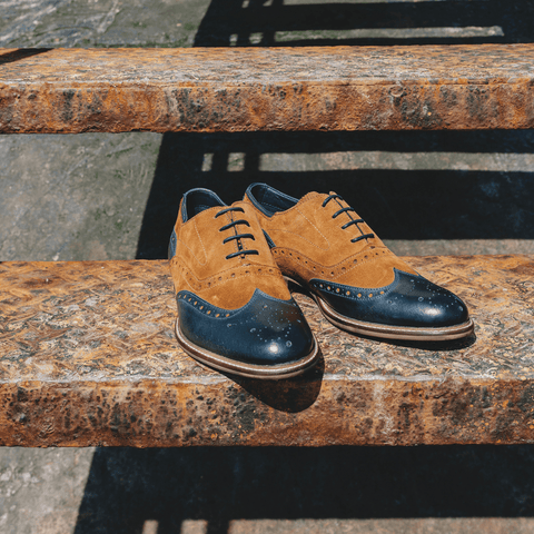Goodwin Smith SS19 SS19 UK 6 / EURO 39 / US 7 / Tan / Leather DARWEN TAN & NAVY