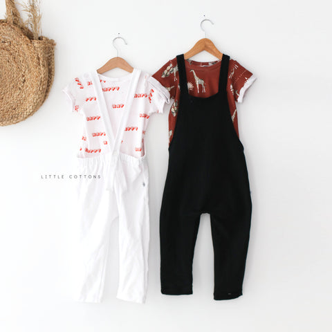 sample sale -white dungarees 3-4 years