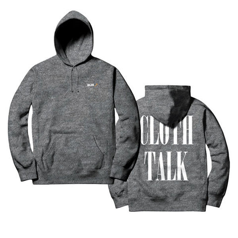 Grey CLOTH TALK Hoodie