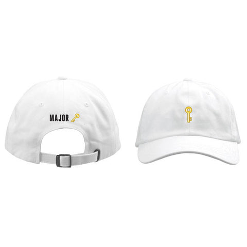 White MAJOR KEY Dad Hat