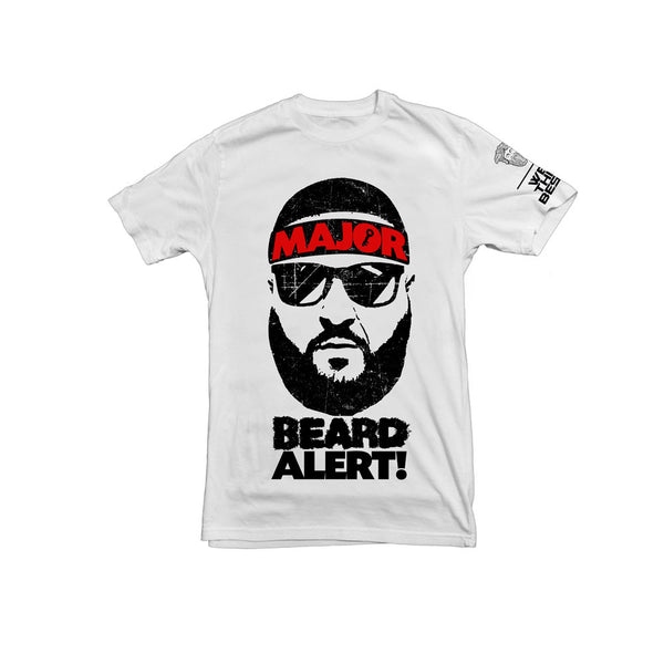 DJ KHALED x Beardsace White Major Beard Alert Collab Shirt
