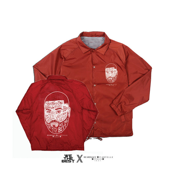 Red DJ KHALED X BEARDSACE COLLAB WINDBREAKER