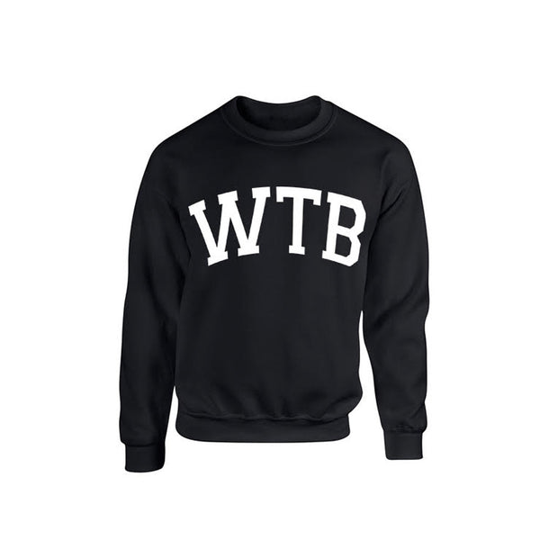 We The Best Black Crewneck Sweatshirt
