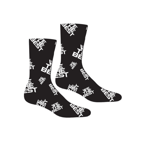 WE THE BEST White Logo Socks