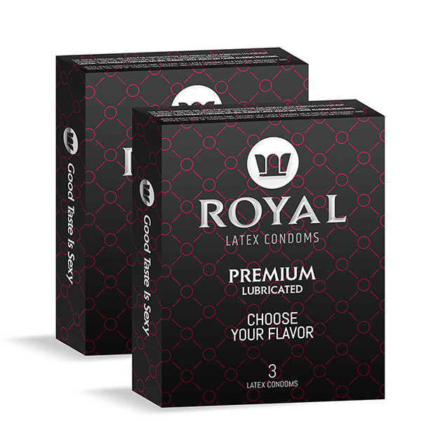 Royal Condoms - 2 packs of 3