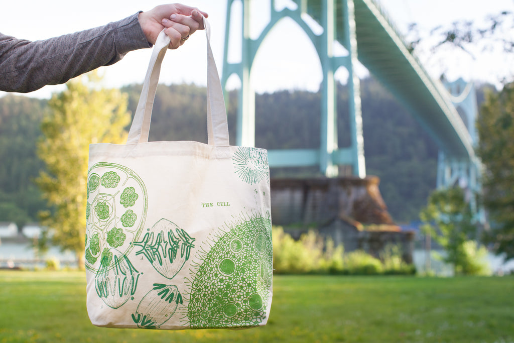 Cell Biology Tote Bag - Eco Friendly Recycled Cotton - by Cognitive Surplus