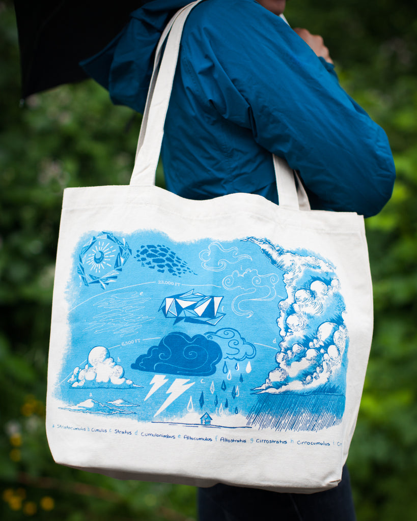 Cloud Layers Earth Science Tote Bag - Eco Friendly Recycled Cotton - by Cognitive Surplus