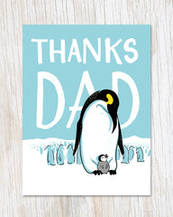 Thanks Dad Emperor Penguin Card