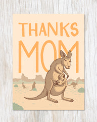 Thanks Mom Kangaroo Card