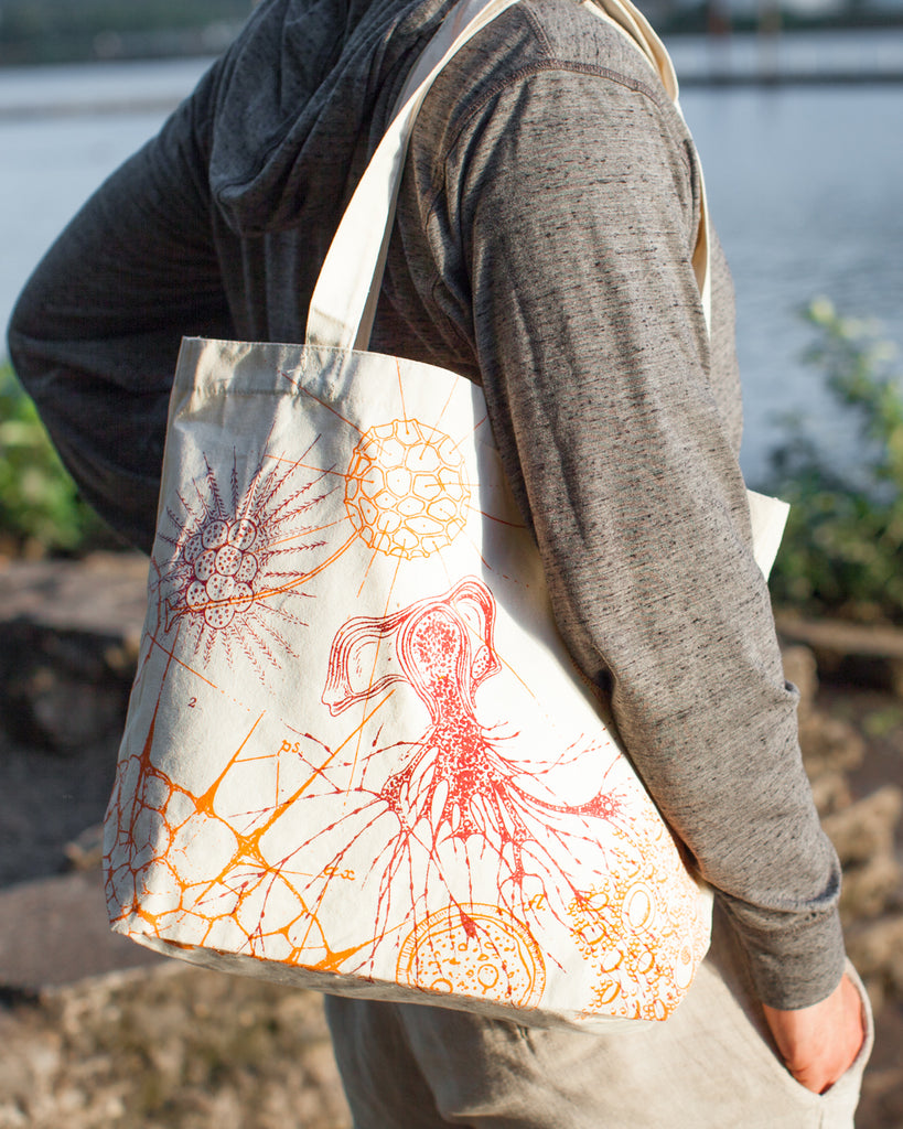Microbiology Tote Bag - Eco Friendly Recycled Cotton - by Cognitive Surplus