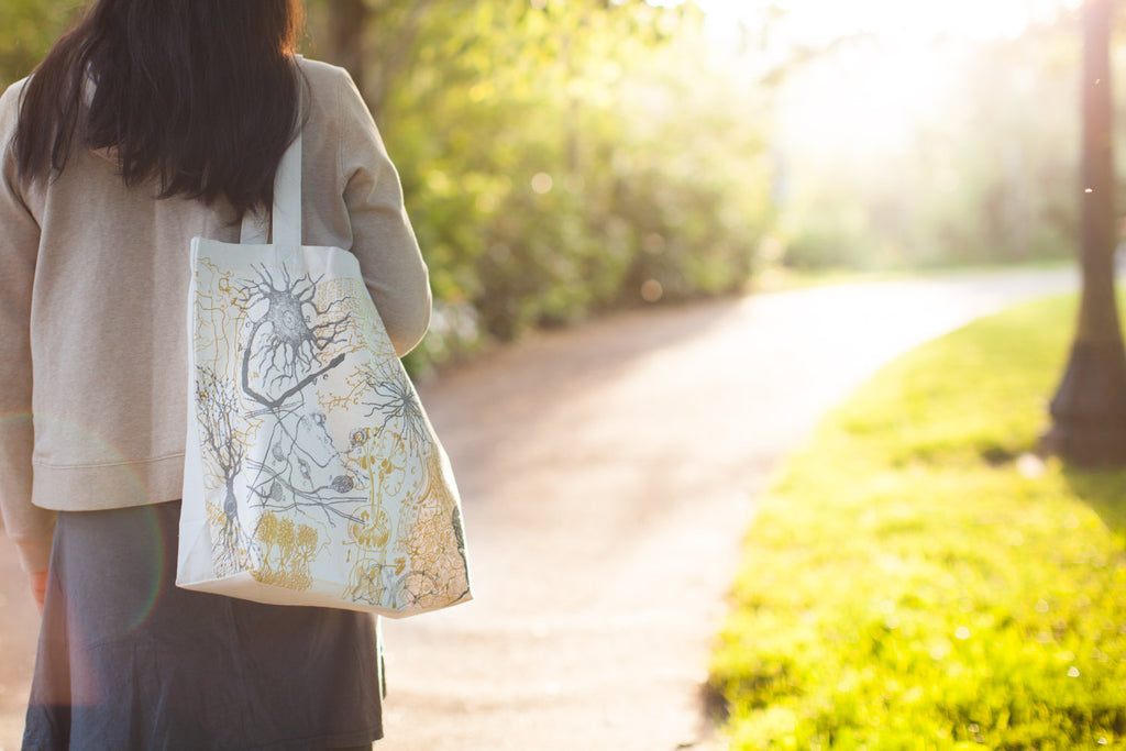 Neurons Tote Bag - Eco Friendly Recycled Cotton - by Cognitive Surplus