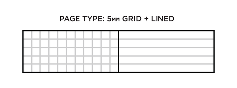 lined grid pages