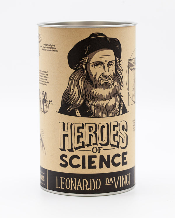 Leonardo DaVinci pint glass packaging by Cognitive Surplus