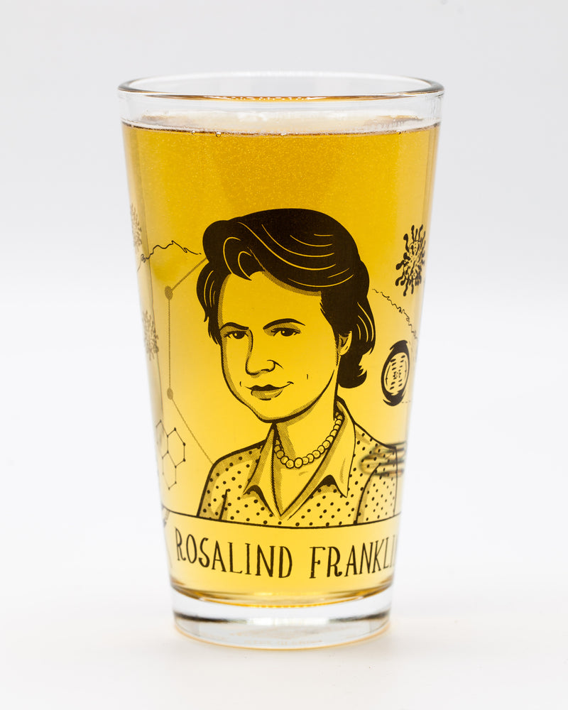 Rosalind Franklin pint glass by Cognitive Surplus, beer pint glass