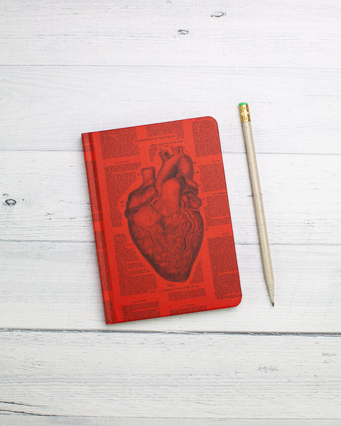 Anatomical Heart Mini Hardcover - Dot Grid