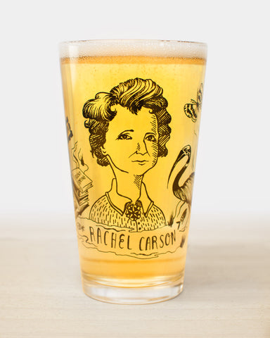 Rachel Carson Pint Glass - Cognitive Surplus