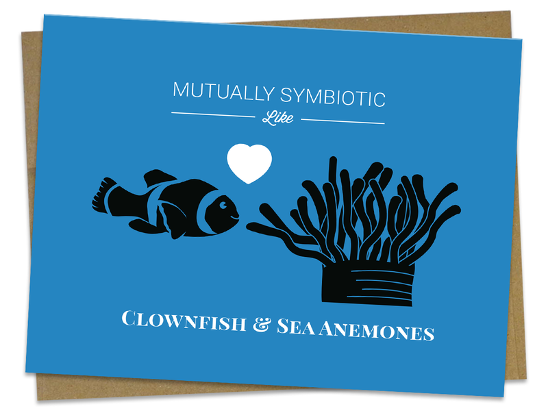 Symbiotic Like Clownfish and Sea Anemones Card