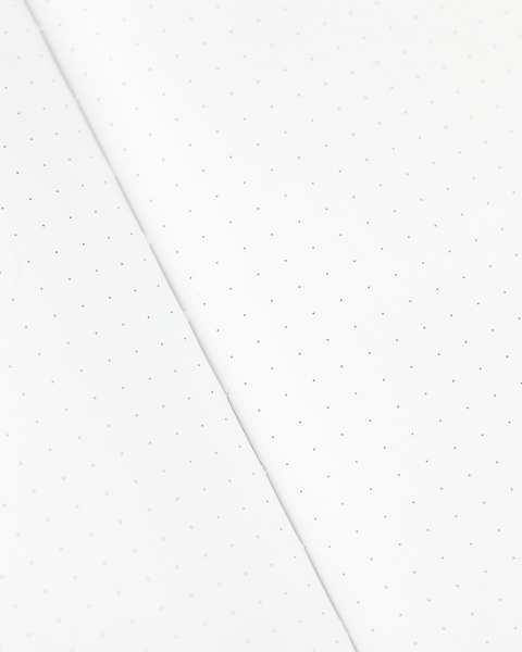 100% recycled paper, 81 gsm, dot grid pages, Cognitive Surplus