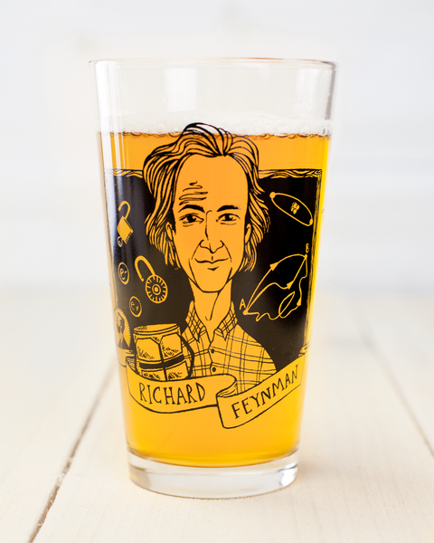 Richard Feynman Pint Glass - Cognitive Surplus - 1