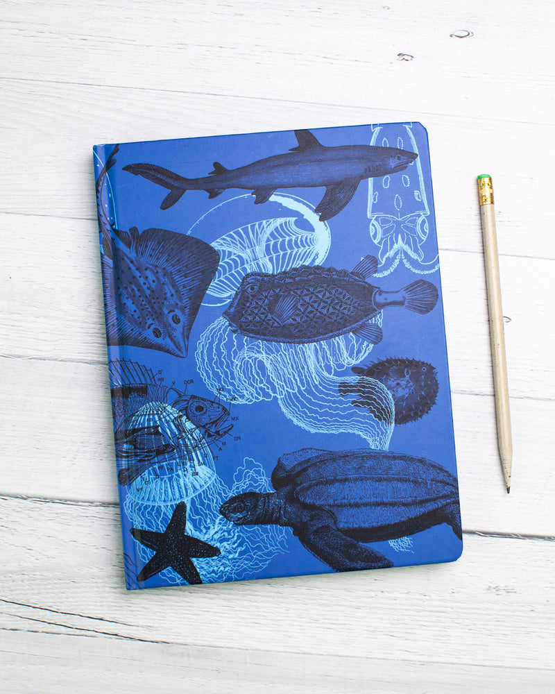 Marine Animals Hardcover - Dot Grid