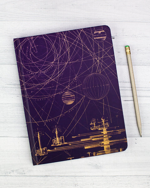 Planetary Motion Hardcover Journal - Lined/Blank