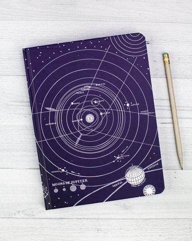 Solar System Hardcover Journal - Lined/Blank