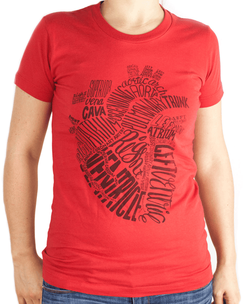 Typographic Anatomical Heart Tee Shirt - Cognitive Surplus - 1