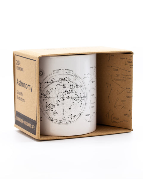 Astronomy mug in packaging by Cognitive Surplus