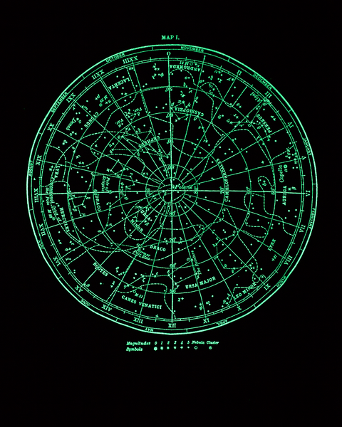 Star Chart Glow-in-the-Dark Tee Shirt – Cognitive Surplus