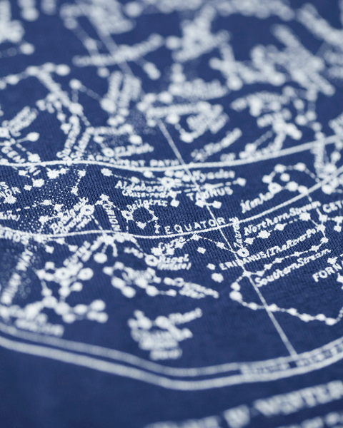Astronomy Star Chart Baby Bodysuit - Navy - Cognitive Surplus - 2