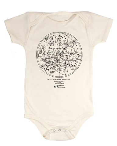 Astronomy Star Chart Baby Bodysuit - Cognitive Surplus - 1