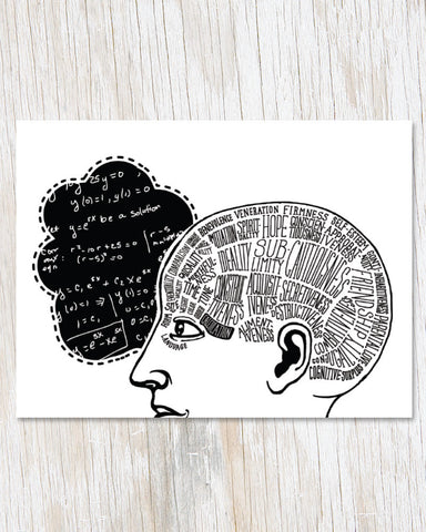 Phrenology: Calculation Greeting Card - Cognitive Surplus