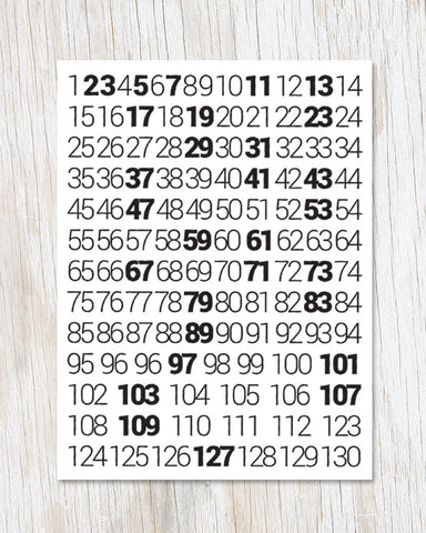 Prime Numbers Greeting Card - Cognitive Surplus