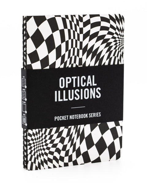 Exploratorium Optical Illusions research series 4 pack by Cognitive Surplus, mini softcover, 100% recycled paper