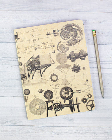 Physics: Mechanics & Engineering Softcover Notebook - Dot Grid