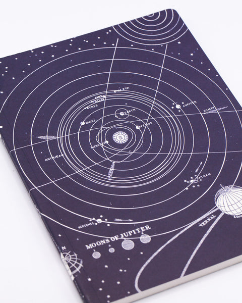 Solar System Softcover Notebook - Lined