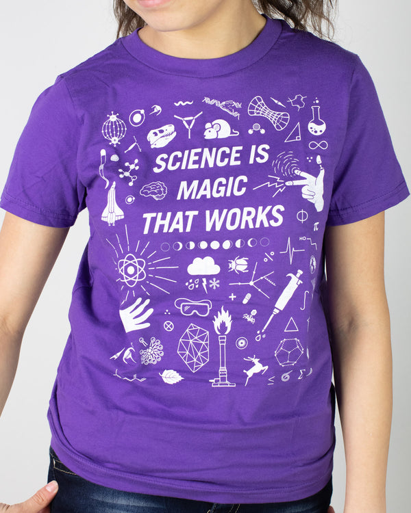 Science is Magic That Works Youth Tee Shirt
