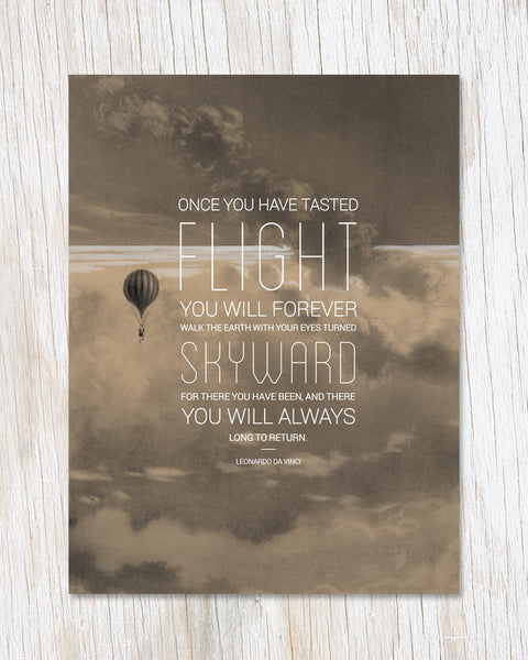 Turn Your Eyes Skyward Greeting Card - Cognitive Surplus - 1