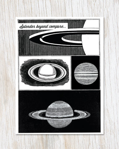 Saturn: Splendor Beyond Compare Greeting Card - Cognitive Surplus