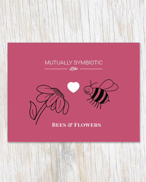 Symbiotic Like Bees and Flowers Card - Cognitive Surplus - 1