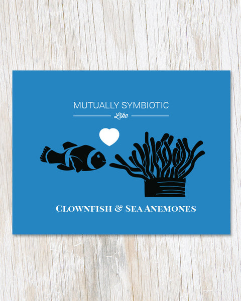 Symbiotic Like Clownfish and Sea Anemones Card - Cognitive Surplus - 1